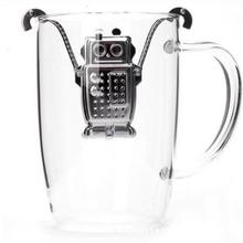 Kitstorm Stainless Steel Robot Tea Infuser And Drip Tray Kitchen Accessories