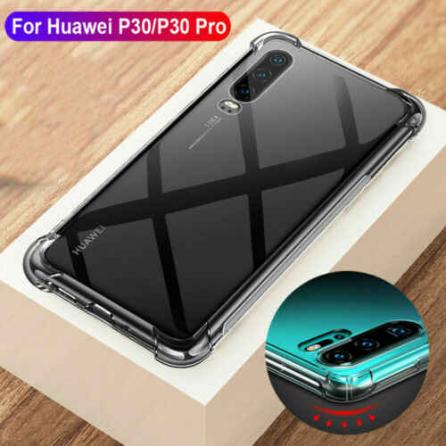 Shockproof Soft Silicone Clear Phone Case For Huawei P30 Mate 20 Lite P20 Y9 P Smart 2019 Transparent Clear TPU Back Bumper Case