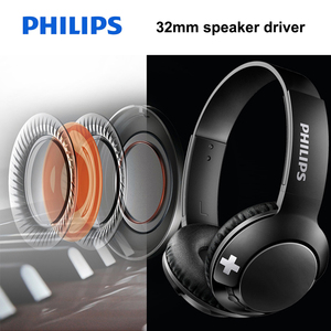 Image 4 - Philips Bluetooth Headset Earphone Wireless Headphones SHB3075 Volume with Microphone Control for  Galaxy Note 8 XiaoMI Hua Wei