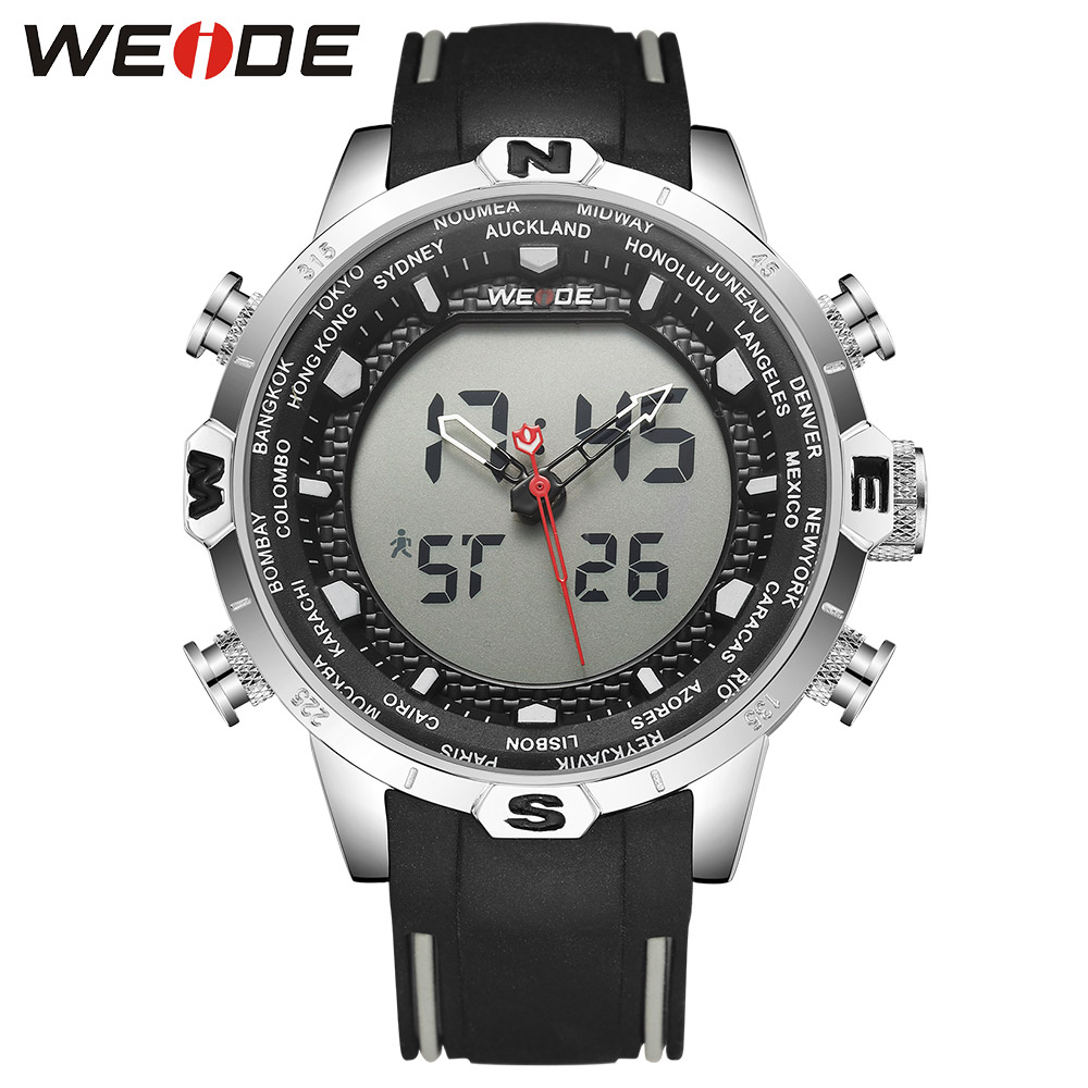 WEIDE LCD digital men's waterproof watch men watches the best luxury brand clock saat fitness bracelet Analog Quartz White 6310 weide brand clock men luxury automatic watch analog quartz men sports watches water resistant leather bracelet saat waterproof