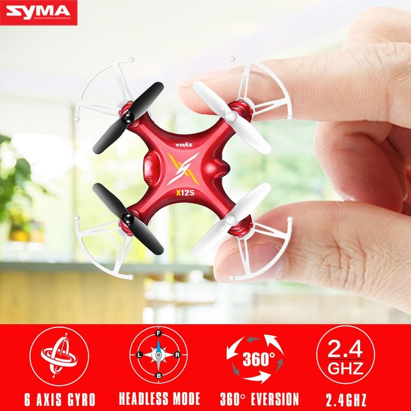 Hot Sale Syma X12S Mini font b Drone b font without Camera Original 2 4G 4CH