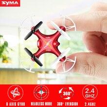 Venta caliente syma x12s mini drone sin cámara original 2.4g toys 4ch rc quadcopter con led parpadeante luz de la noche de niños