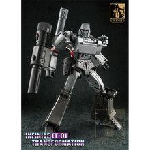 Transformação g1 mgtron it-01 mpp36 MP-36 imperador da destruição it01 ko coleção figura de ação robô brinquedos
