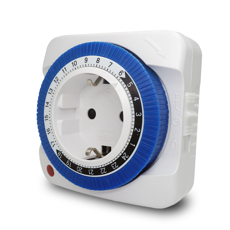 Image 2 - European German Standard Mechanical Intelligent Timer Socket 24 hour Switching Time Controller-in Electrical Sockets from Home Improvement
