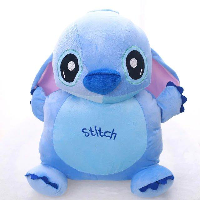Aeruiy morbido peluche cartone animato farcito animale blu stitch