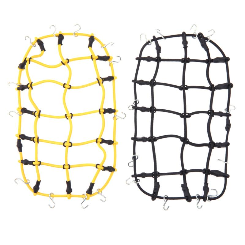 2pcs/Set RC Car Synthetic Rack Cargo Elastic Luggage Net For 1:10 Traxxas Hsp Redcat Rc4wd Tamiya Axial SCX10 D90 Hpi