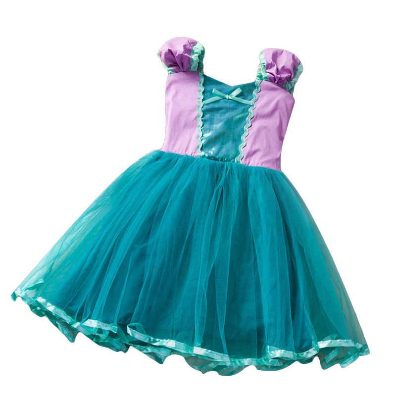 Niñas Little Ariel Sirena Vestido Para Niño Infante Azul