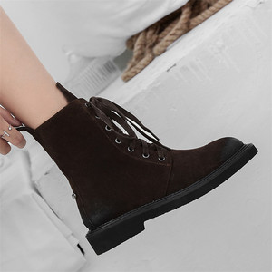 Image 5 - FEDONAS Brand Women Ankle Boots Autumn Winter Cow Suede Short Ladies Shoes Woman Thick Heels Punk Party Club Shoes Basic Boots