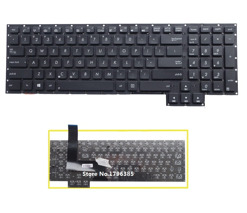 SSEA New US Keyboard For ASUS G750 G750J G750V G750JZ G750JH laptop English Keyboard without frame laptop keyboard for asus q503 q503u q503ua black without frame with backlight us 0kn0 sr3us13 0knb0 662nus00