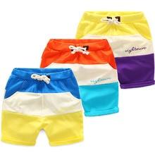 2017 New Toddler Boys Shorts Summer Children Clothing Casual Print Cotton Beach Shorts Elastic Waist Baby Boy Pants Patchwork