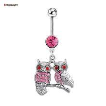 Owls Piercings Bird Navel Belly Rings Sexy Bikini Body Jewelry Women Girls Bell Piercing Ombligo Earrings Beach Accessorys