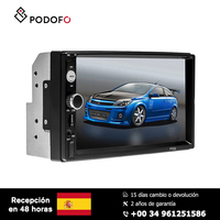 Podofo 7'' HD Car radio MP5 Radio Video Player Mirror Link Built in Bluetooth 4.0 Touch Screen Support Rear View Camera