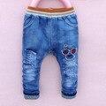 Nova 2-6year velho Primavera menino calças jeans outono crianças calças de brim calças jeans criança crianças calças