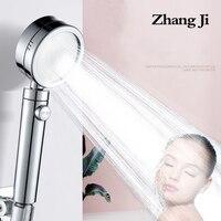 Zhangji покрытие 3 режима с кнопкой переключения душевая головка пластиковая Регулируемая ванная комната обрабатываемая новая душевая головк...