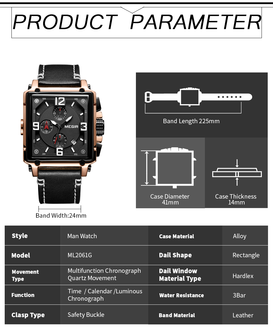HTB1Z.YMTCzqK1RjSZFpq6ykSXXai MEGIR Creative Men Watch Top Brand Luxury Chronograph Quartz Watches Clock Men Leather Sport Army Military Wrist Watches Saat