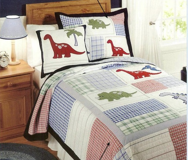 European Style Cotton Quilt Kids Dinosaur Bed Cover Autumn Comforter