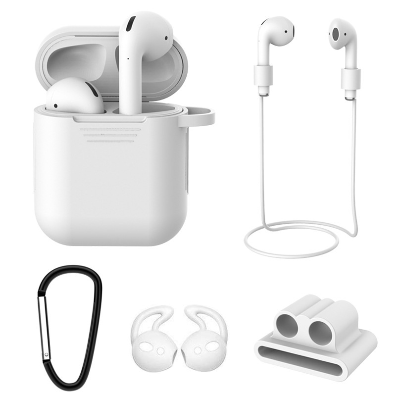 Top quality Soft Silicone Case For Airpods For Air Pods Shockproof Earphone Protective Cover Waterproof for iphone 7 8