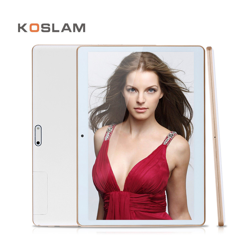 цена на KOSLAM 3G Android Tablets PC Tab Pad 10 Inch IPS Screen MTK Quad Core 2GB RAM 32GB ROM Dual SIM Card WIFI GPS 10 Phablet