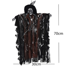 Silk Cloth Scary Hanging Electric Ghost Halloween Decorations