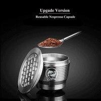 Nespresso Refillable Capsule Reusable Coffee Filter Dripper Steel Nespresso Cafeteira Capsulas De Cafe Recargables Reutilizables|Coffee Filters| |  -