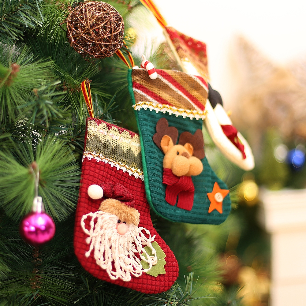 3pcs mini christmas stocking filler candy bag kids christmas gifts cheap christmas tree ornaments christmas decorations for home in stockings gift holders
