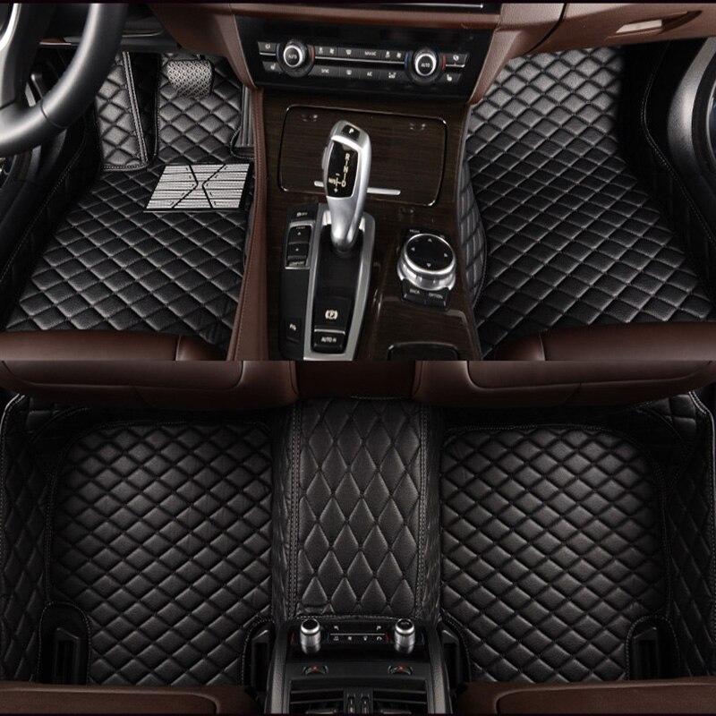 Personnalisé tapis de sol de voiture pour Audi a4 b6 a6 c5 b8 A6L R8 Q3 Q5 Q7 S4 Quattro A1 A2 A3 A4 A6 A8 voiture stylingcar accessoire de voiture