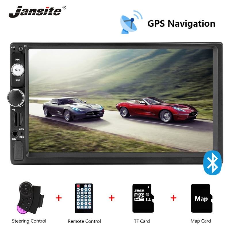 Jansite 7 Car Radio GPS Navigation MP5 player Touch screen Mirror link 2 din radio support