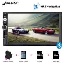 Jansite 7 Car Radio GPS Navigation MP5 player Touch screen Mirror-link 2 din radio support stereo Steering Wheel Control U disk пенал косметичка перламутр