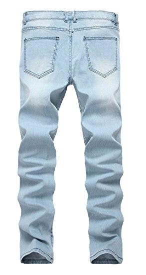 a1255e33e Calças de Brim dos Homens Azul em Linha Mens Slim Fit Skinny Jeans ...