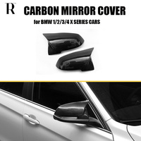 M Style Real Carbon Fiber Replaced Rear View Side Mirror Cover Cap for BMW 1 2 3 4 Ser F20 F21 F22 F87 M2 F23 F30 F32 F34 F36
