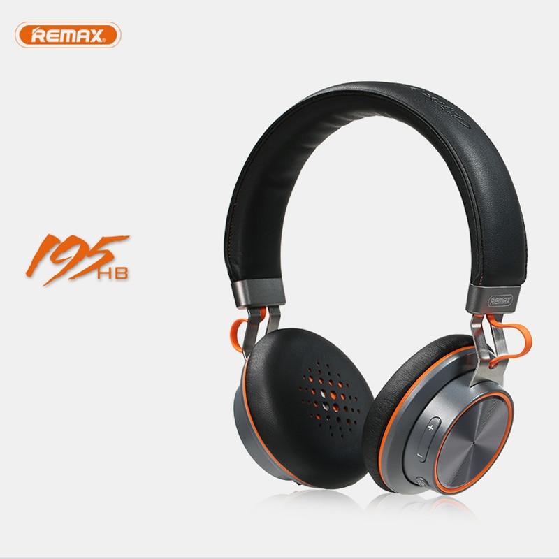 Wireless Bluetooth Headphone Stereo Remax 195hb Headset Bluetooth 4 1 Music Headset Over The Earphone With Mic For Xiaomi Earphone Jack Headphones With 2 5 Mm Jackheadphone Iphone Aliexpress