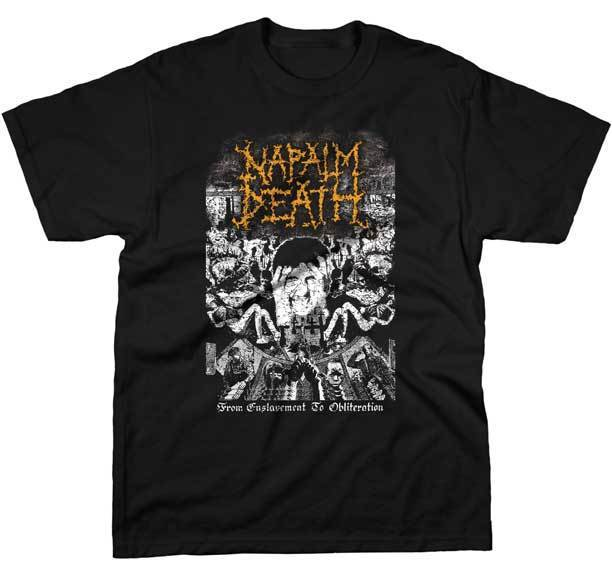 Gildan NAPALM DEATH From Enslavement To Obliteration New men t shirt