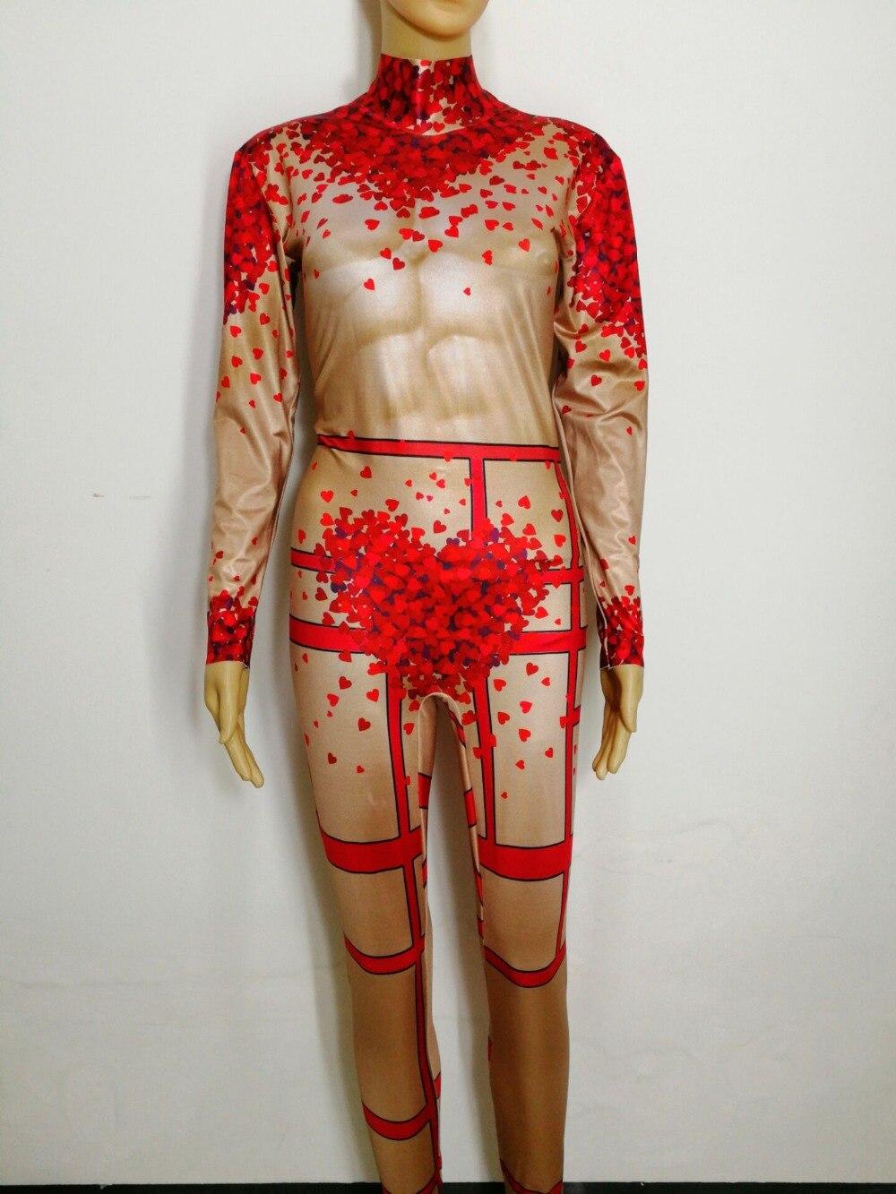 Запад Стиль Бар Купальник комбинезон День святого Валентина для ночного клуба сценический костюм для танцев выступлений одежда
