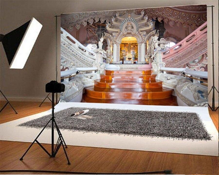 Laeacco tempel paleis trap interieur fotografie achtergronden
