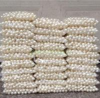 500 g per bag DIY manual materials scattered bead accessories ABS imitation pearl Pure white double hole 4 20 mm round bead son