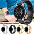 Für Samsung Galaxy Uhr 46mm S3 Edelstahl Band Strap Metall Ersatz Klassische Schmetterling Schnalle Armband 22mm Armband