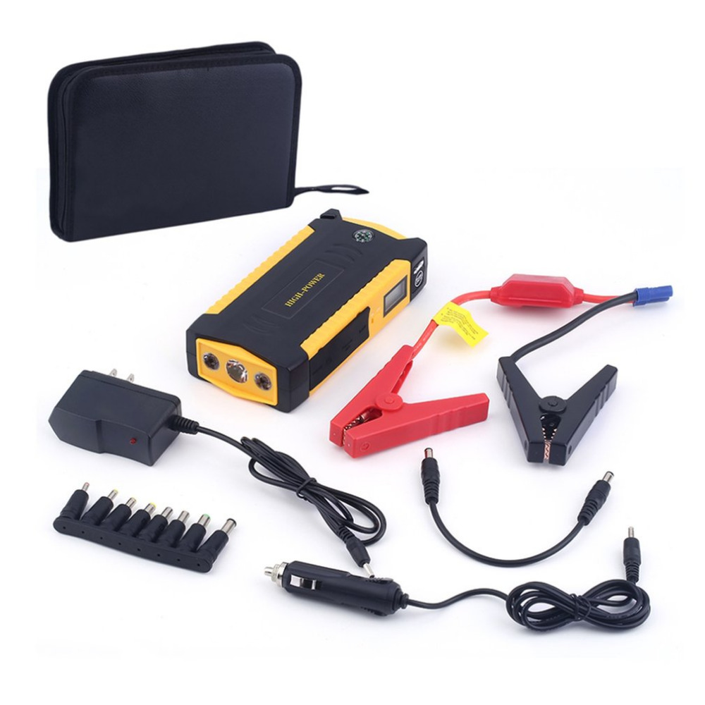Portable 4USB jump staeter Port LCD Display Car Vehicle Auto Jump Starter Emergency Charger Booster Power Bank Battery Charger 13500mah 12v multi function mobile power bank tablets notebook phone ca r auto eps starter emergency start power