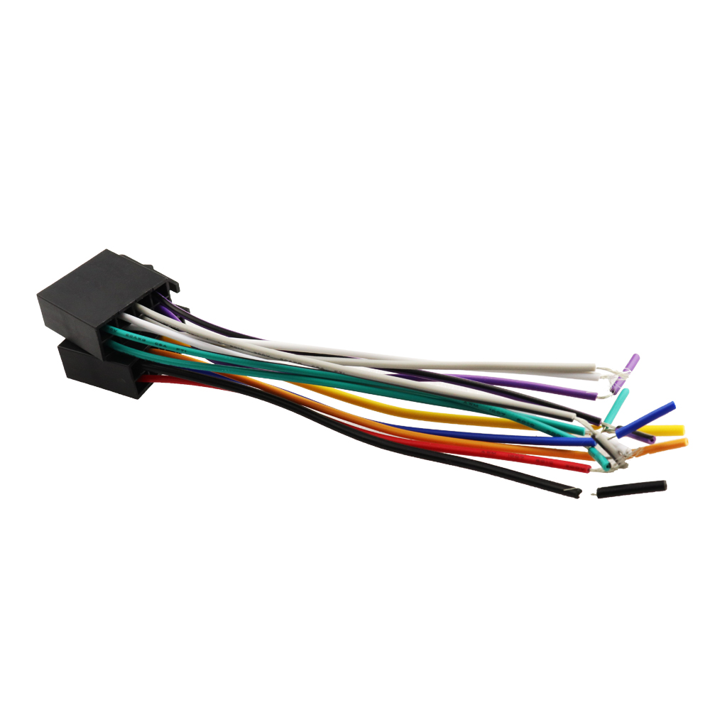 hight resolution of universal female iso wiring harness car stereo adapter connector radio wire connecter adaptor plug kit in cables adapters sockets from automobiles