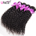 UNice Brazilian Curly Virgin Hair 7A Brazilian Kinky Curly Hair Cheap Human Hair Weave 3PCS Soft Curly Brazilian Hair Extensions