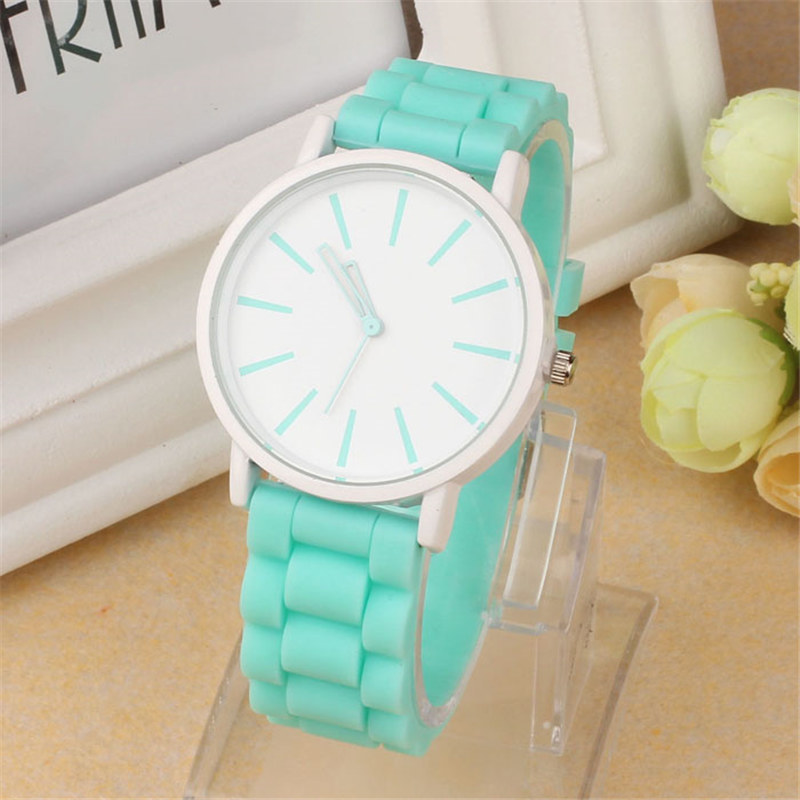Luxury Women Watch Silicone Rubber Unisex Quartz Analog Sports Women Fashion Wrist Hot Pink For Lovely Girls #4m14 (32)
