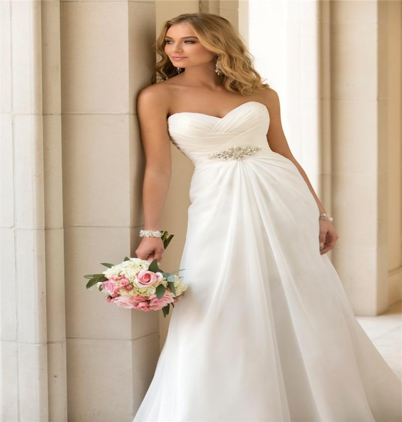 Simple Plus Size Wedding Dresses: Vestidos De Novia White Plus Size Vintage Wedding Dresses