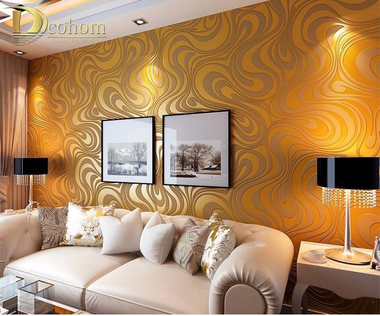 Wysokiej jakości 0.7 m * 8.4 m nowoczesny luksus 3d tapety rolki mural papel de parede uciekają na paski ściany papier 5 kolor r136 17