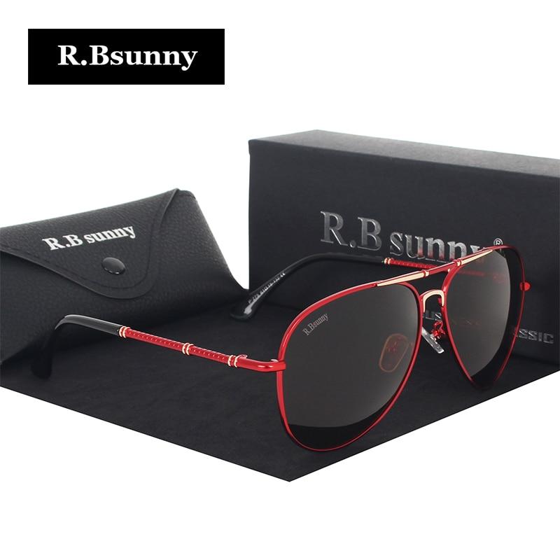 Moda mujer gafas de sol de alta calidad marca clásica polarizada HD hombres gafas de sol de conducción antideslumbrante UV400 Goggle R.Bsunny R1616
