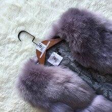 Luxury Faux Fox Fur Vest Furry Woman
