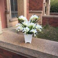 Special offer high grade flower vase flower bonsai Decor Set simulation table flower orchid Freesia flower bouquet