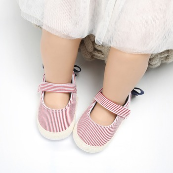 2019 Newborn Baby Girl Shoes Infant Toddler Baby Crib Shoes Princess Lace Mary Jane Big Bow Soft Soled First WalkerA
