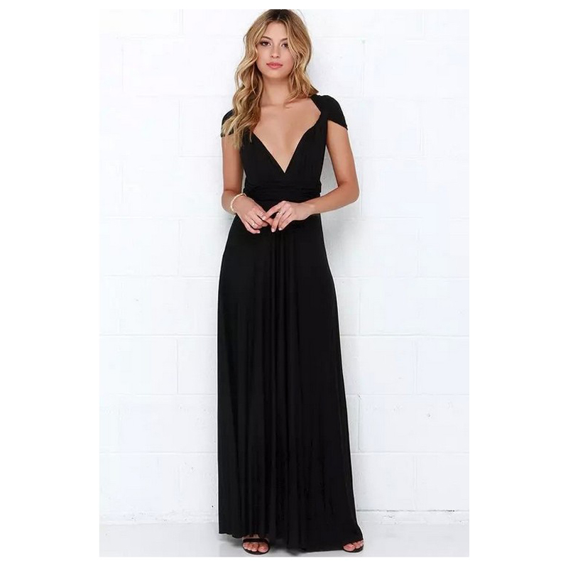 22 Colors Multiple Wear Women Maxi Dress Party Off Shoulder Long Dress Bridesmaids Convertible Pregnant Dress FS0210-1