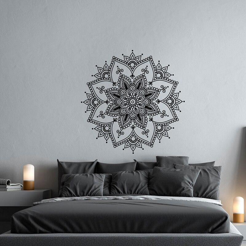 Behendig Mandala Vinyl Muurtattoo Slaapkamer-meditatie Wall Art Yoga Studio Decor-mandala Decal Boho Bohemian Muur Decor- Mandala A12-011 Blijf Je Altijd Fit