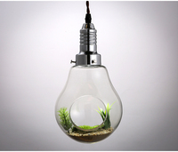 American Creative Pendant Lights Glass Vase Plant Hanging Light Bulb Personality Pastoral Style Restaurant Art Deco
