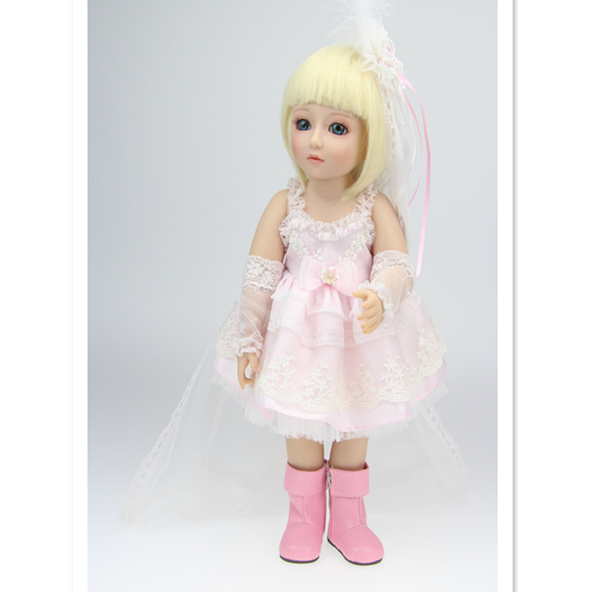 Fashion SD/Bjd Doll Girls Doll with Clothes Blue Eyes,18 Inch Cute Princess Doll Toys for Children's New Year Gift 1 3rd scale 65cm bjd nude doll bazael bjd sd doll boy with face up not included clothes wig shoes and accessories